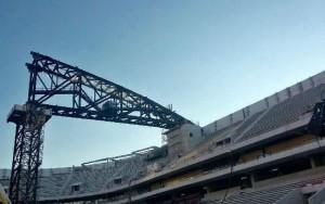Pose toiture Aréna aout 2016